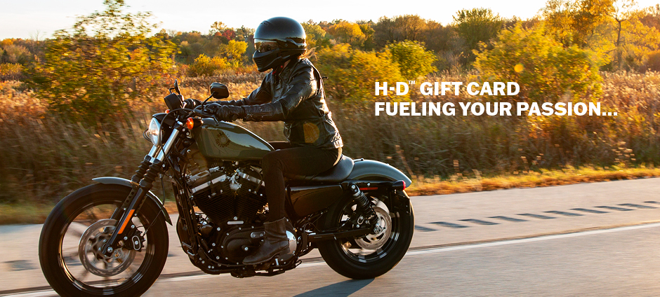 Create H-D gift card account today.